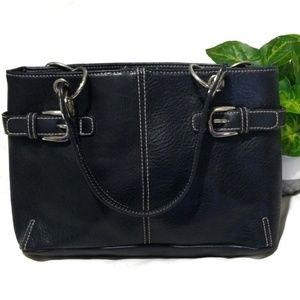 Vintage Tommy Hilfiger Black Pebbled Leather Bag